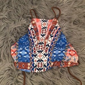 NWOT High neck altar'd state bikini top